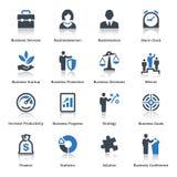 Affärssymbolsuppsättning 1 - blå serie Arkivbilder