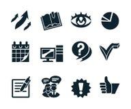 Affärssymbolsuppsättning v2 Arkivfoto