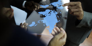 AffärsTeam Global Business Planning Working begrepp Royaltyfria Bilder