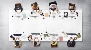 AffärsTeam Meeting Connection Digital Technology begrepp Royaltyfria Foton