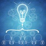 Affärsteamwork och innovation Fotografering för Bildbyråer