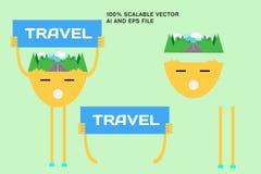 Affärstecken, folk Plan stilfull vektorillustration vektor illustrationer