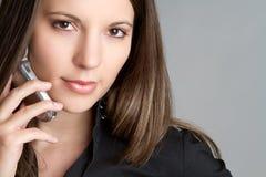 affärstelefonkvinna Fotografering för Bildbyråer