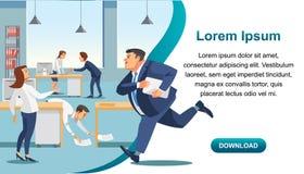AffärsTid ledning och produktivitetsvektor stock illustrationer