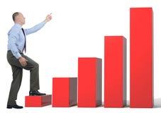 Affärstillväxt chart Fotografering för Bildbyråer