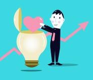Affärstillväxt. Positiva idéer. Royaltyfri Fotografi