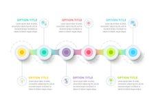 Affärstimelinen i moment cirklar infographics företags vektor illustrationer