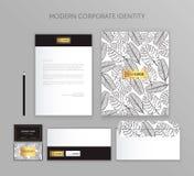 Affärsuppsättning för företags identitet Modern brevpappermalldesign Dokumentation för affär Royaltyfria Bilder