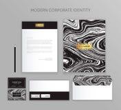 Affärsuppsättning för företags identitet Modern brevpappermalldesign Dokumentation för affär Royaltyfria Foton