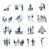 Affärsutbildningsuppsättning vektor illustrationer