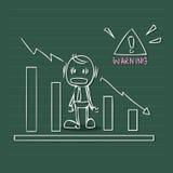 Affärsvarning vektor illustrationer