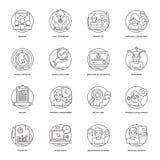 Affärsvektorlinje symboler 4 royaltyfria bilder