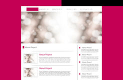 Affärswebsitemall Arkivfoto