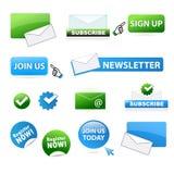 Affärswebsitesymboler Arkivbilder