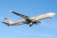 A6-AFF阿联酋联合航空,空中客车A330-343 库存照片