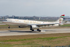 A6-AFF Etihad Airways Airbus A330-343 Stock Photo