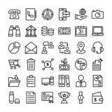 Aff?rs- och finanssymboler packar stock illustrationer