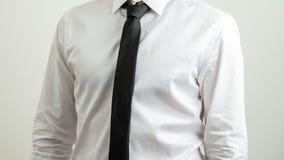 Aff?rsman i skjorta och tie royaltyfri foto