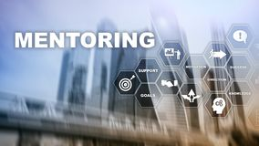 Aff?rsMentoring Personlig coachning Utbildande personligt utvecklingsbegrepp Blandat massmedia royaltyfria foton