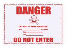 affaiblissement d'étiquette de fumigation de danger Photos libres de droits