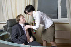 Affair in office Royalty Free Stock Photography