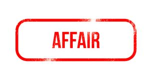 Affair - red grunge rubber, stamp.  Royalty Free Stock Photos