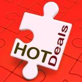 Affaire étonnante d'offre d'affaires de moyens chauds de puzzle Photo libre de droits