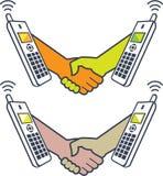 Affaire au-dessus du téléphone Photos libres de droits