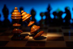 Affaire on a chess table Stock Photos