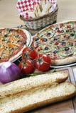 Affaire combinée de pizza pour le famille image libre de droits