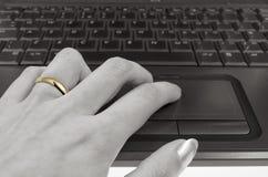 Affaire d'Internet Images libres de droits
