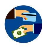 Affaire de crédit et d'argent Images libres de droits