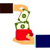 Affaire de crédit et d'argent Photos stock