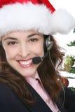 Affaires à Noël Photographie stock