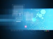 Affaires élevées d'informatique d'Internet futuriste de la Science images libres de droits
