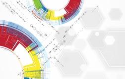 Affaires élevées d'informatique d'Internet futuriste de la Science illustration libre de droits