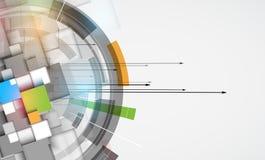 Affaires élevées d'informatique d'Internet futuriste de la Science Photos libres de droits