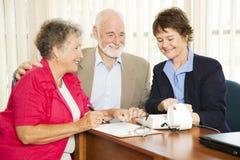 Affaires aînées - finances Photos stock