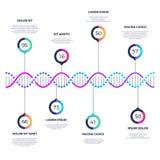 Affaires abstraites de vecteur de molécule d'ADN infographic avec des options illustration de vecteur