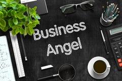 Affaires Angel Concept sur le tableau noir rendu 3d Image stock