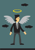 Affaires Angel Investor Cartoon Vector Illustration Images stock