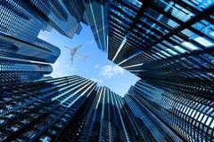 Affaires, architecture et concept d'immobiliers Images libres de droits