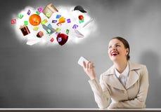 Affaires au téléphone Photos stock