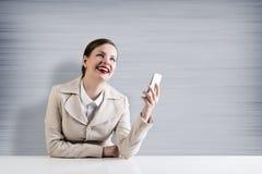 Affaires au téléphone Images libres de droits