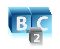 Affaires aux cubes en propriétaires Image stock