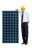 Affaires avec l'énergie solaire Photographie stock libre de droits