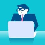 Affaires avec le voleur Image stock