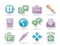 Affaires, bureau et objets et signes d'Internet Photos stock