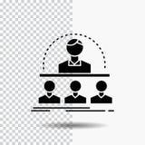 Affaires, car, cours, instructeur, icône de Glyph de mentor sur le fond transparent Ic?ne noire illustration stock