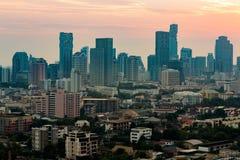 Affaires centrales de Bangkok de vue aérienne du centre Image libre de droits